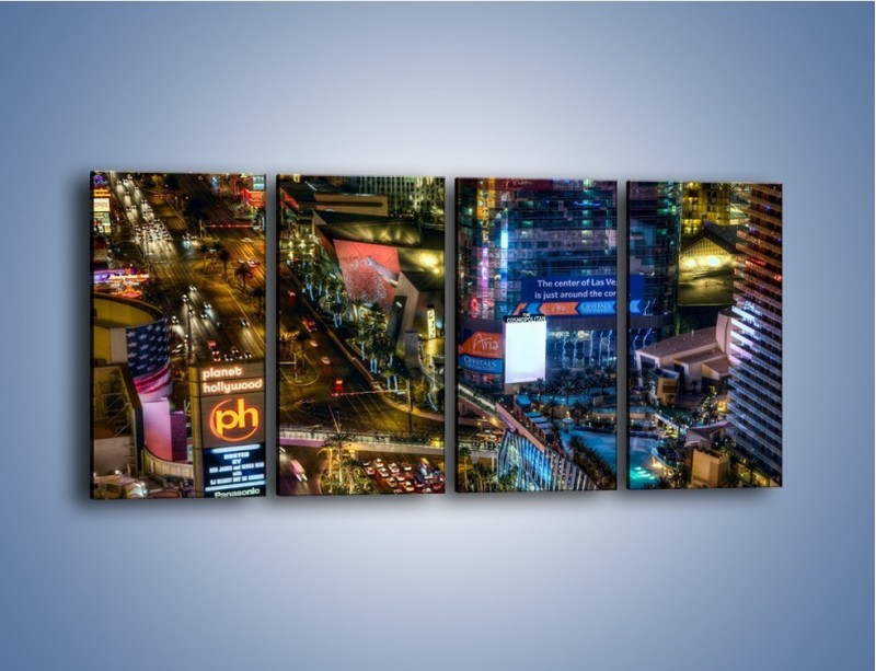 Obraz na płótnie – Cosmopolitan of Las Vegas – czteroczęściowy AM577W1