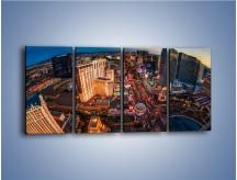 Obraz na płótnie – Centrum Las Vegas – czteroczęściowy AM588W1