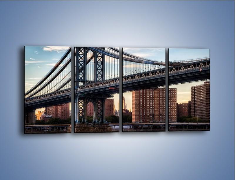 Obraz na płótnie – Manhattan Bridge – czteroczęściowy AM607W1