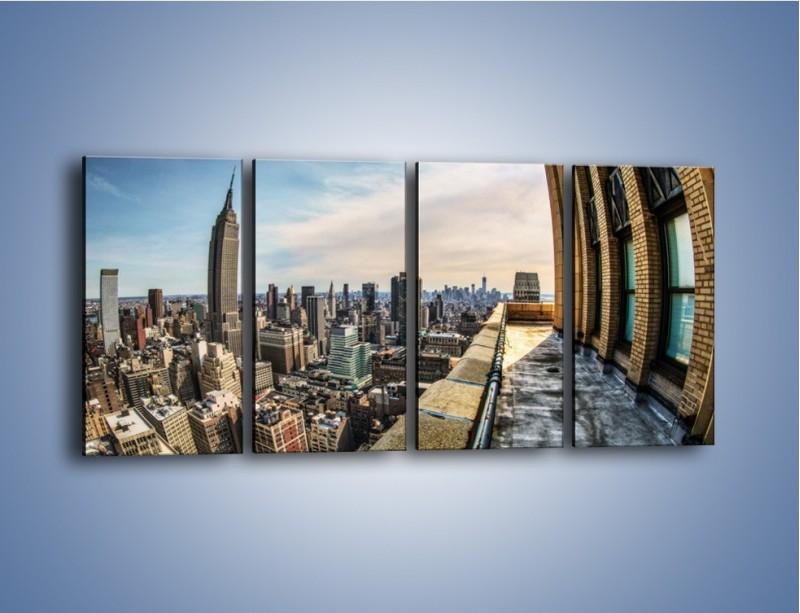 Obraz na płótnie – Empire State Building na Manhattanie – czteroczęściowy AM610W1