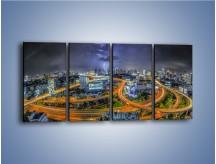 Obraz na płótnie – Burza nad Bangkokiem – czteroczęściowy AM622W1