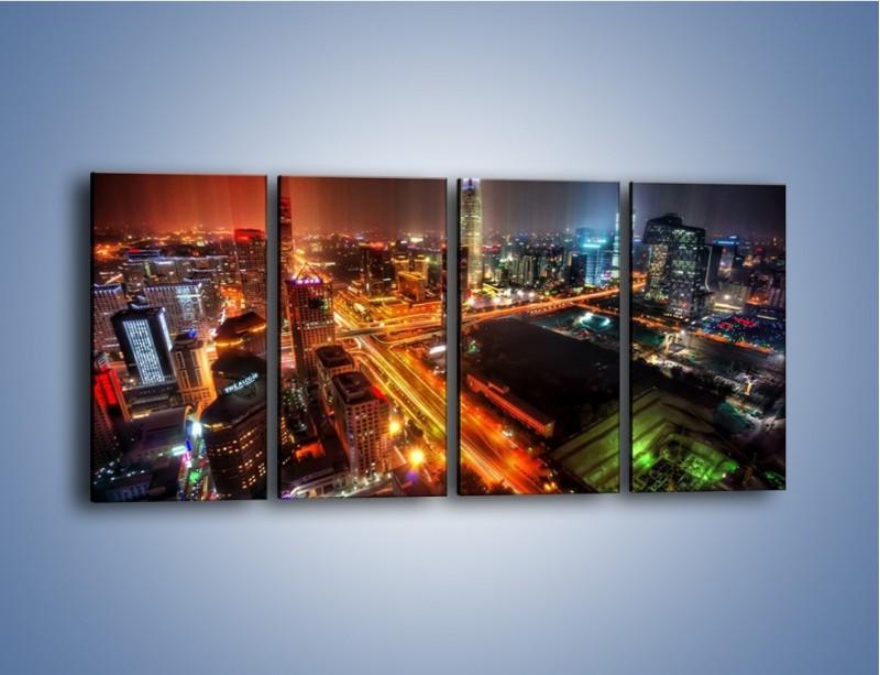 Obraz na płótnie – Niesamowite kolory Pekinu – czteroczęściowy AM632W1