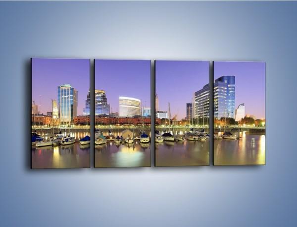 Obraz na płótnie – Mały port w Buenos Aires – czteroczęściowy AM637W1