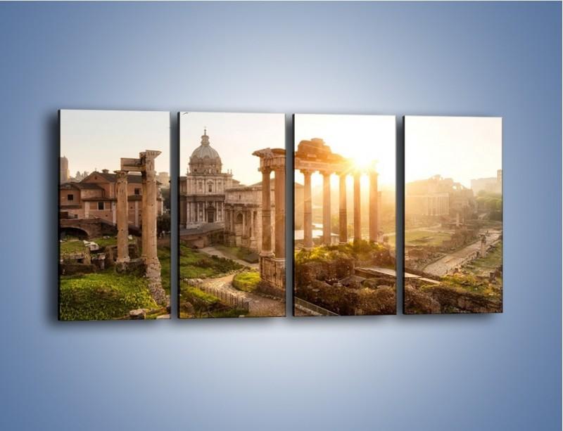 Obraz na płótnie – Starożytna architektura Rzymu – czteroczęściowy AM638W1