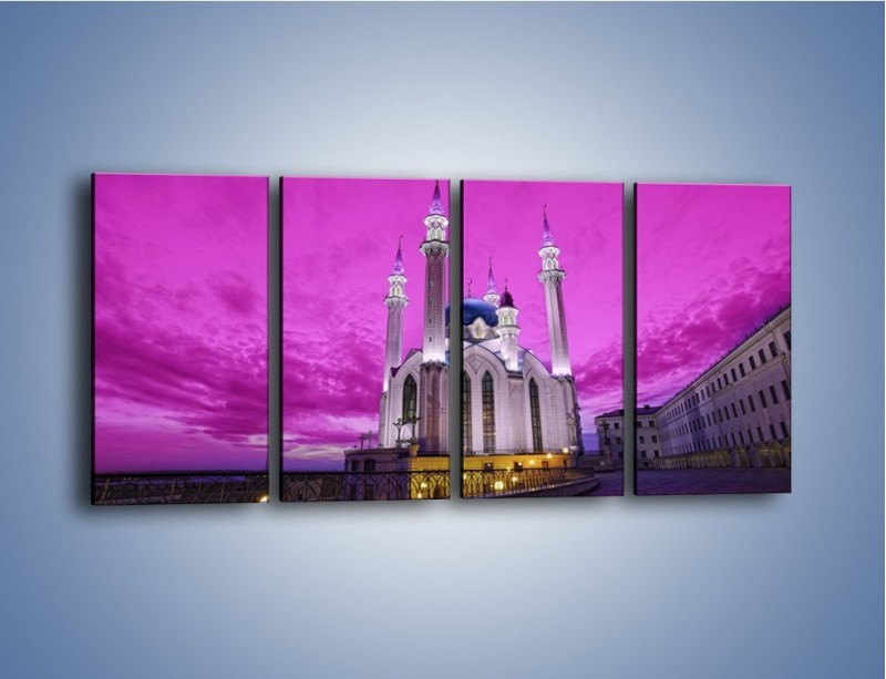 Obraz na płótnie – Meczet Kul Szarif – czteroczęściowy AM642W1