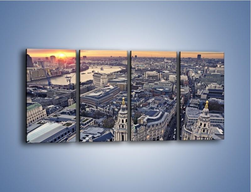 Obraz na płótnie – Widok na Londyn z Katedry św. Pawła – czteroczęściowy AM652W1