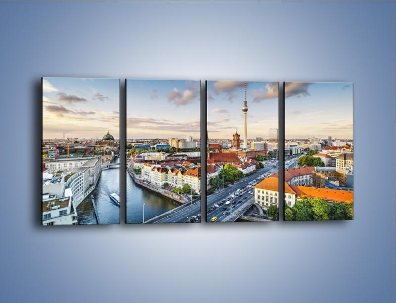 Obraz na płótnie – Panorama Berlina – czteroczęściowy AM673W1