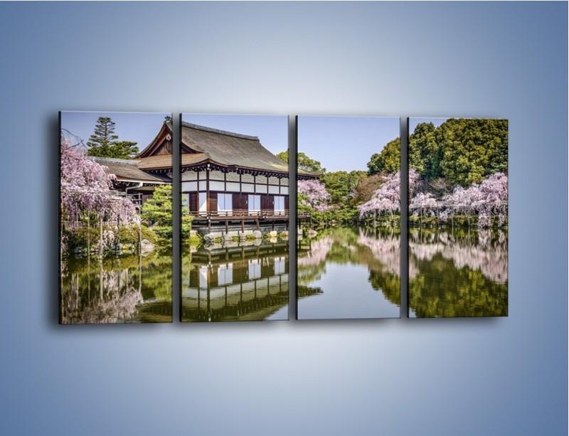 Obraz na płótnie – Świątynia Heian Shrine w Kyoto – czteroczęściowy AM677W1