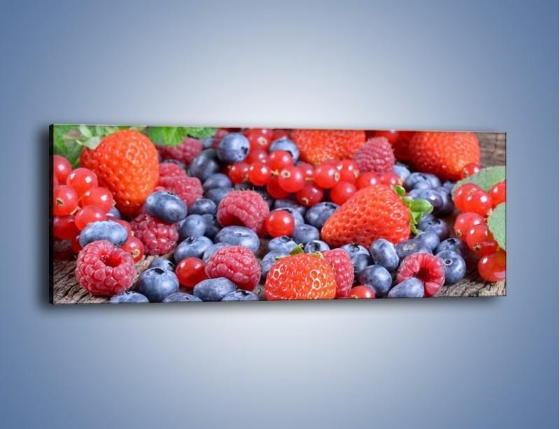 Obraz na płótnie – Owoce z działki – jednoczęściowy panoramiczny JN422