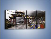 Obraz na płótnie – Brama do miasta Tawang w Tybecie – czteroczęściowy AM689W1