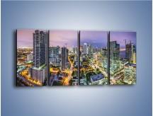 Obraz na płótnie – Centrum Miami – czteroczęściowy AM702W1