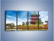 Obraz na płótnie – Chiński ogród w Singapurze – czteroczęściowy AM715W1