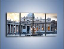 Obraz na płótnie – Bazylika św. Piotra w Watykanie – czteroczęściowy AM722W1