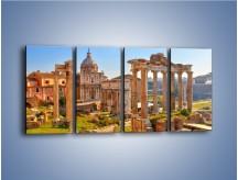 Obraz na płótnie – Rzymskie starożytne ruiny – czteroczęściowy AM802W1