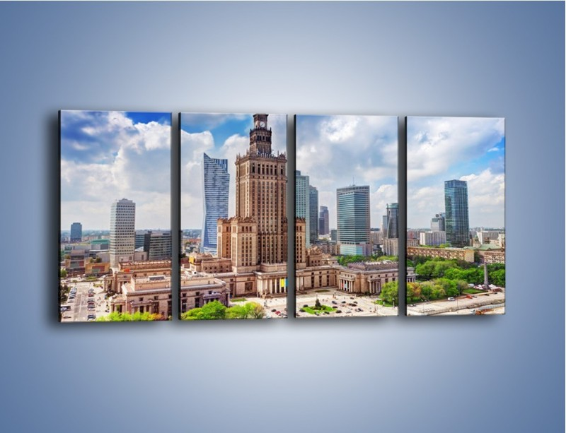 Obraz na płótnie – Pałac Kultury i Nauki w Warszawie – czteroczęściowy AM806W1