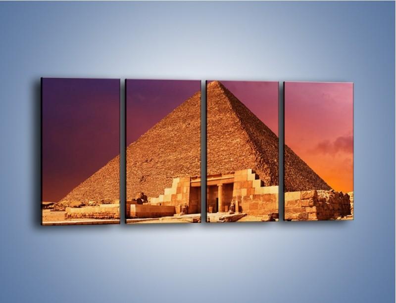 Obraz na płótnie – Piramida w Egipcie – czteroczęściowy AM812W1