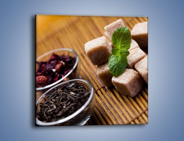 Obraz na płótnie – Ususzone bogactwa natury do herbaty – jednoczęściowy kwadratowy JN105