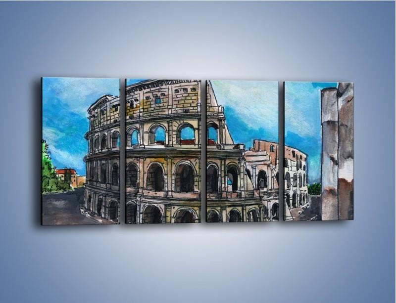 Obraz na płótnie – Znana budowla z bliska – czteroczęściowy GR039W1