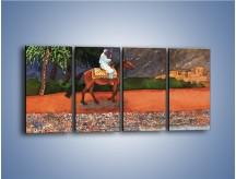 Obraz na płótnie – Arabski szejk na koniu – czteroczęściowy GR052W1
