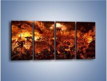 Obraz na płótnie – Bitwa z demonami – czteroczęściowy GR137W1