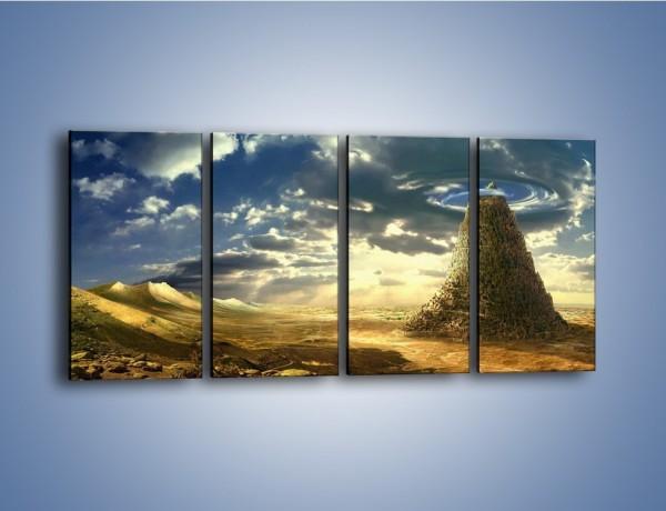 Obraz na płótnie – Przez górę aż do chmur – czteroczęściowy GR139W1