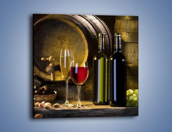 Obraz na płótnie – Wino czerwone czy białe  – jednoczęściowy kwadratowy JN107