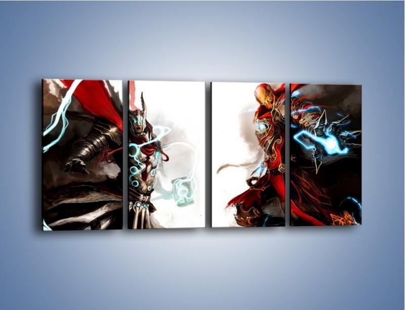 Obraz na płótnie – Walka z potężną siłą – czteroczęściowy GR207W1