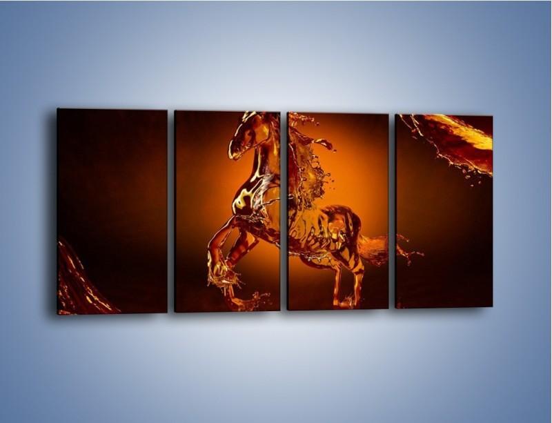 Obraz na płótnie – Wodny koń w mocnym świetle – czteroczęściowy GR228W1