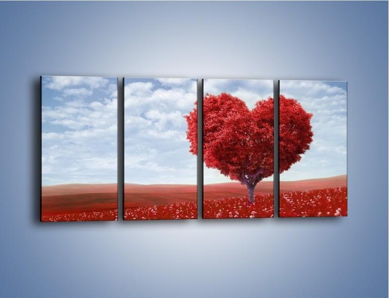 Obraz na płótnie – Polaną w stronę miłości – czteroczęściowy GR249W1