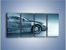 Obraz na płótnie – Auto z prędkością światła – czteroczęściowy GR264W1