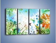 Obraz na płótnie – Baśniowa kraina w kolorach – czteroczęściowy GR270W1