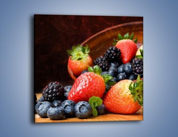Obraz na płótnie – Misa pełna owocowego zdrowia – jednoczęściowy kwadratowy JN110