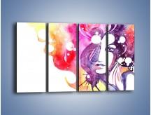 Obraz na płótnie – Barwy w otoczeniu kobiety – czteroczęściowy GR296W1