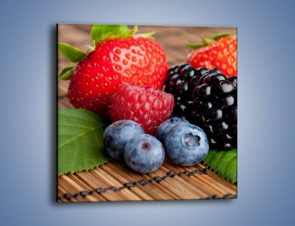 Obraz na płótnie – Dojrzałe owoce leśne – jednoczęściowy kwadratowy JN111