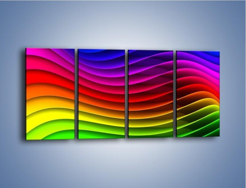 Obraz na płótnie – Falą w kolorze – czteroczęściowy GR393W1