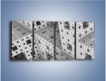 Obraz na płótnie – Budynki z klocków – czteroczęściowy GR410W1