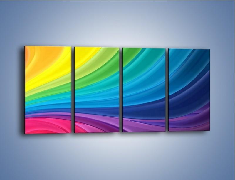 Obraz na płótnie – Zachowane kolory tęczy – czteroczęściowy GR424W1