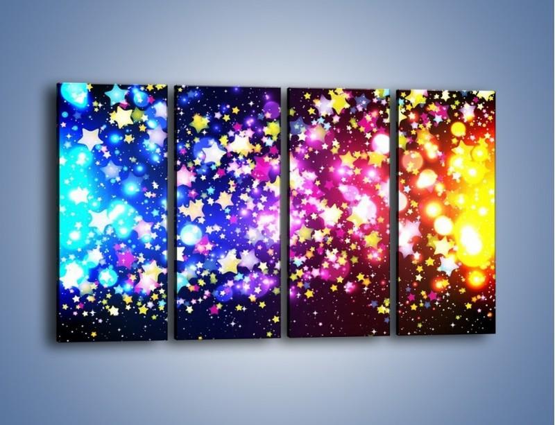 Obraz na płótnie – Kolory widziane nocą – czteroczęściowy GR432W1