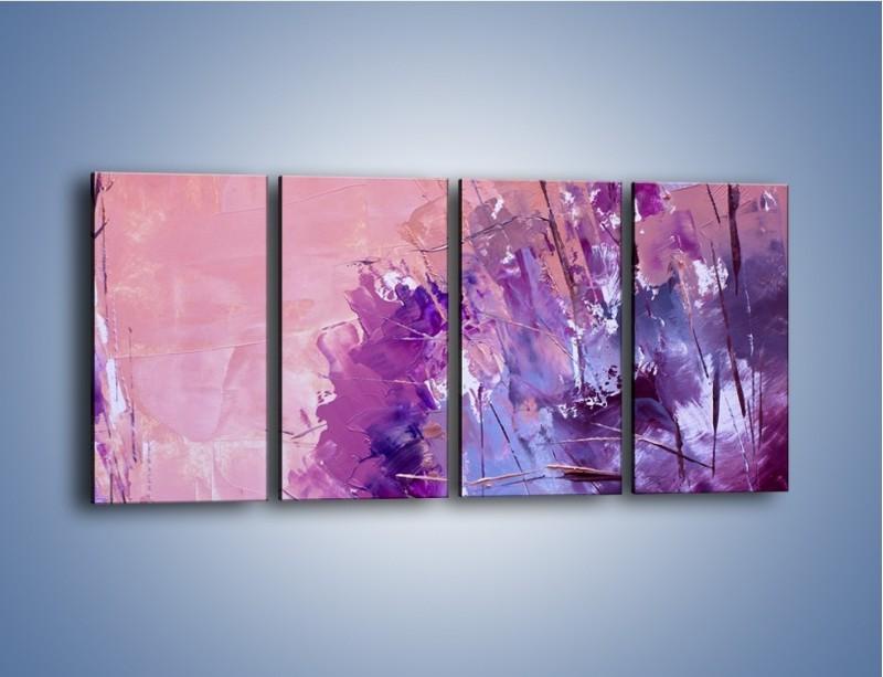 Obraz na płótnie – Mocna barwa fioletu – czteroczęściowy GR472W1