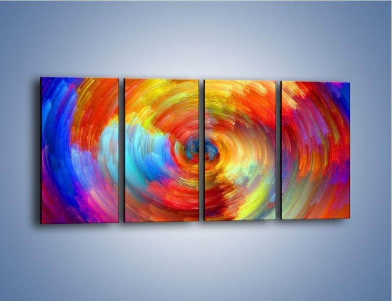 Obraz na płótnie – Kolorowy wir – czteroczęściowy GR502W1