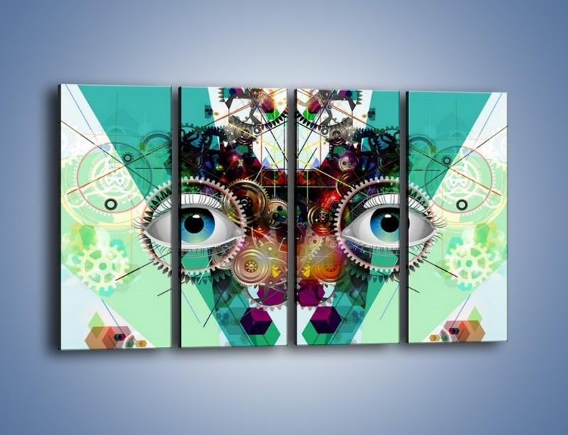 Obraz na płótnie – Mechanicznie otwarte oczy – czteroczęściowy GR504W1