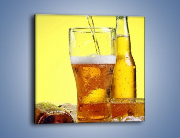 Obraz na płótnie – Dolewka złotego napoju – jednoczęściowy kwadratowy JN115