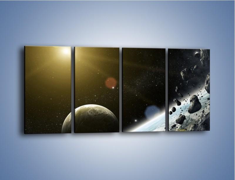 Obraz na płótnie – Dotrzeć między planety – czteroczęściowy GR534W1