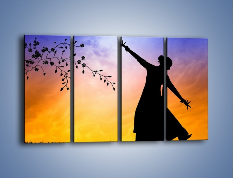 Obraz na płótnie – Wieczorny cygański taniec – czteroczęściowy GR597W1