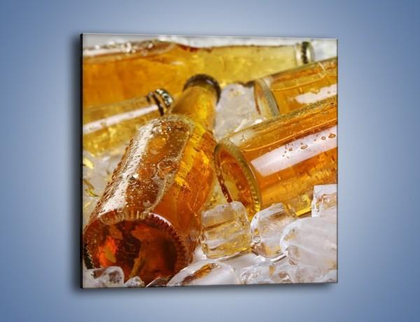 Obraz na płótnie – Złote procenty w butelce – jednoczęściowy kwadratowy JN117