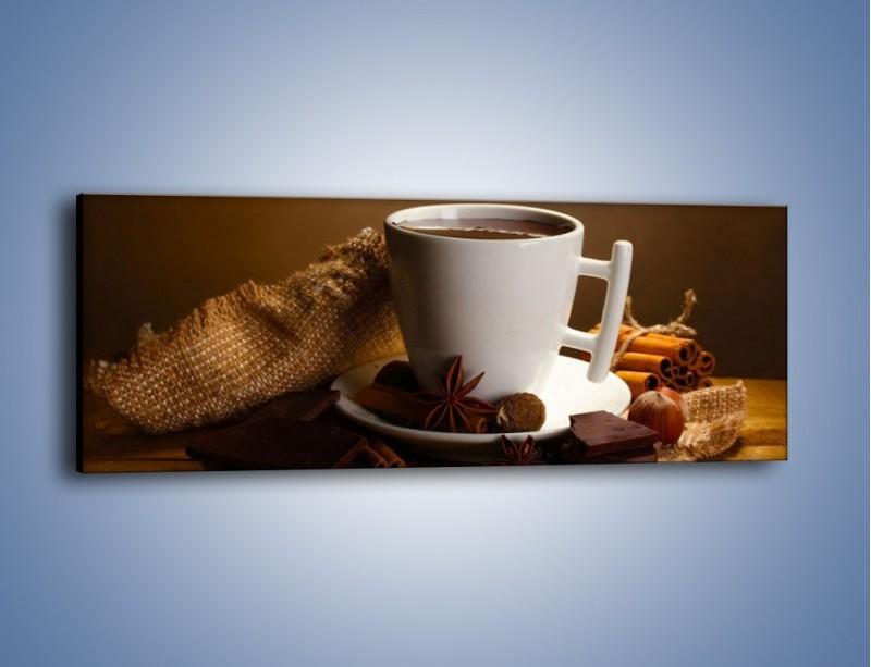 Obraz na płótnie – Gorąca czekolada z dodatkami – jednoczęściowy panoramiczny JN452