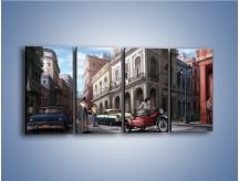 Obraz na płótnie – Codzienne życie na kubie – czteroczęściowy GR627W1