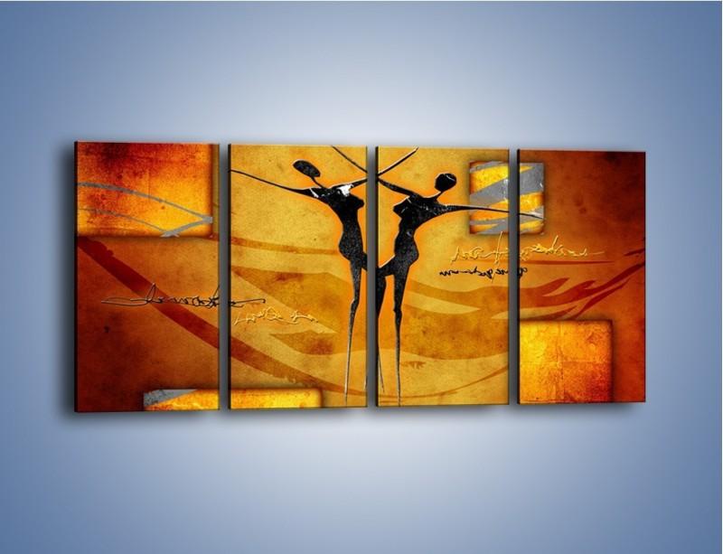 Obraz na płótnie – Dotyk w tańcu – czteroczęściowy GR633W1