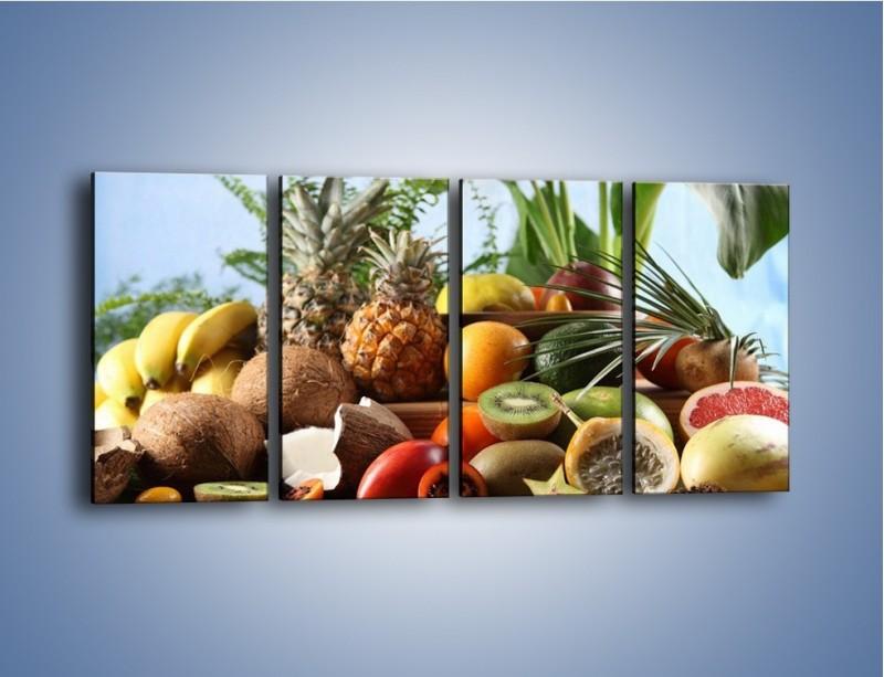 Obraz na płótnie – Mix owocowy na drewnianym stole – czteroczęściowy JN009W1