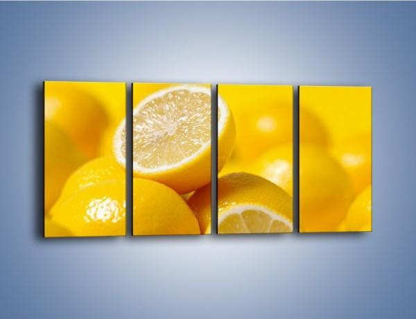 Obraz na płótnie – Kwaśne soczyste cytrynki – czteroczęściowy JN031W1
